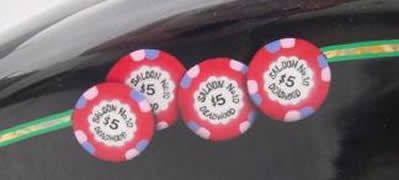 Saloon No.10 poker chips